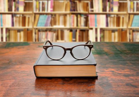 Bibliothek, Studentin, Bücher, Literatur